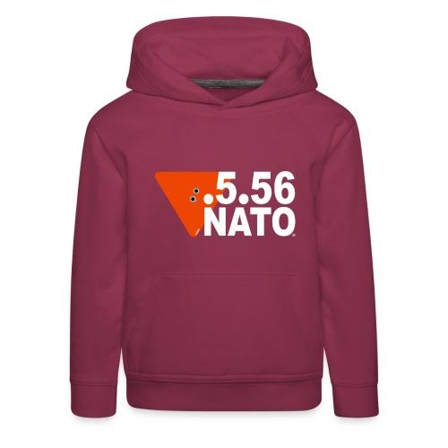 .5.56 NATO BLANC - Pull à capuche Premium Enfant