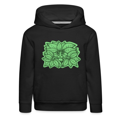 Green Man for Pagan Global Warming/Climate Change - Kids' Premium Hoodie