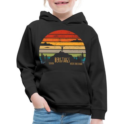 lustige Wanderer Sprüche Shirt Geschenk Retro - Kinder Premium Hoodie