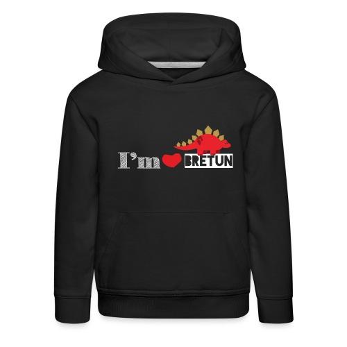 IM CORAZON BRETUN - Sudadera con capucha premium niño