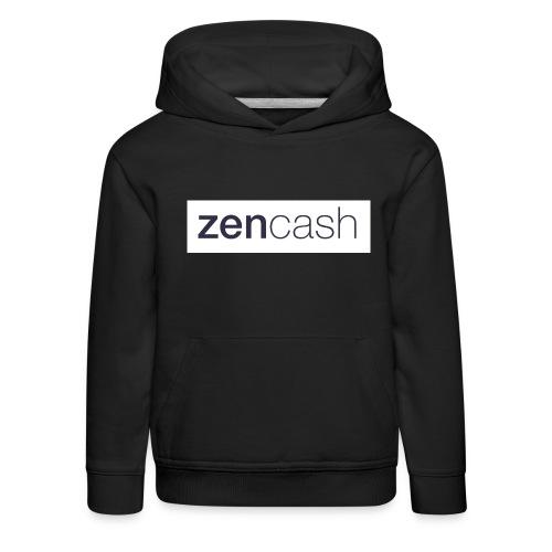 ZenCash CMYK_Horiz - Full - Kids' Premium Hoodie