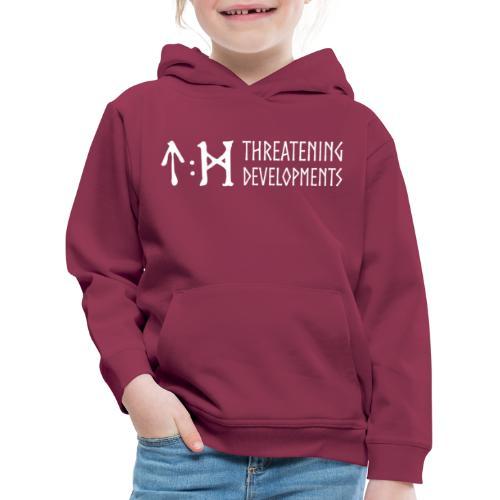 Threatening Developments White Logo - Kids' Premium Hoodie