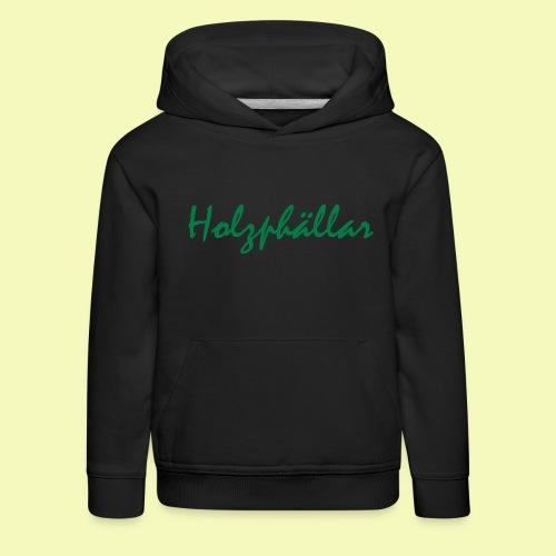 Schriftzug Grün - Kinder Premium Hoodie
