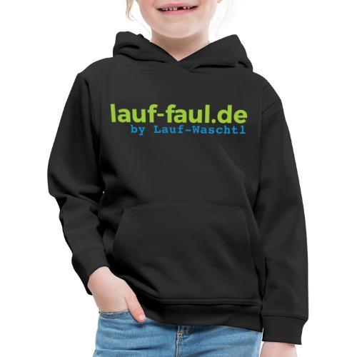 lauf-faul.de - beidseitig - Kinder Premium Hoodie