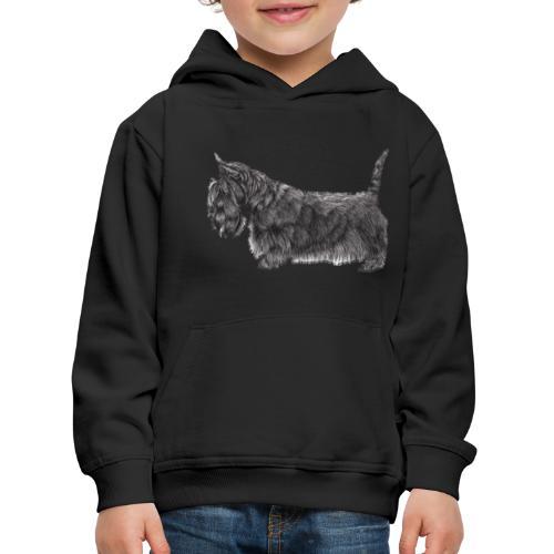 skotsk terrier ub - Premium hættetrøje til børn