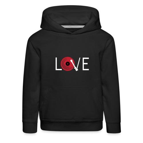 Love vynil - Felpa con cappuccio Premium per bambini