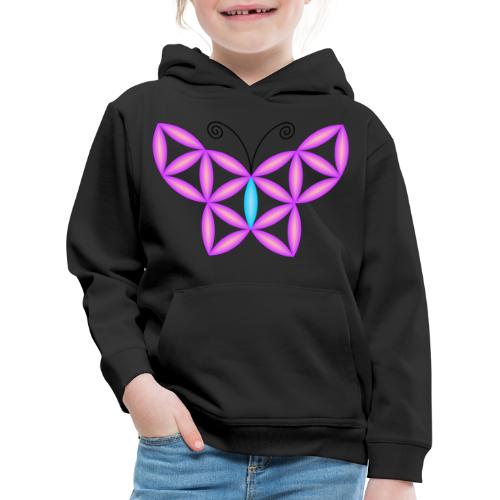 The Butterfly Of Life - Sacred Animals - Kids' Premium Hoodie