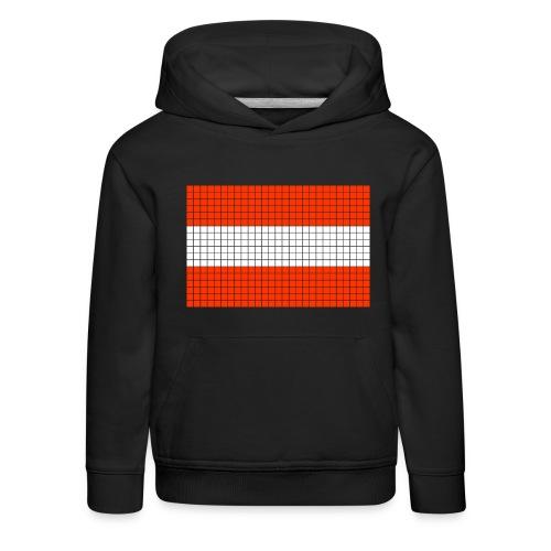 austrian flag - Felpa con cappuccio Premium per bambini
