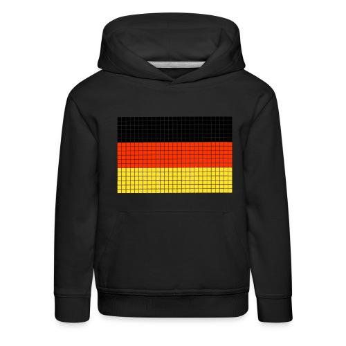 german flag.png - Felpa con cappuccio Premium per bambini