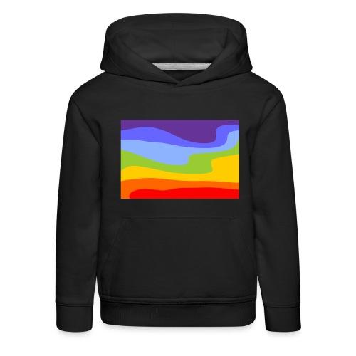 Hintergrund Regenbogen Fluss - Kinder Premium Hoodie