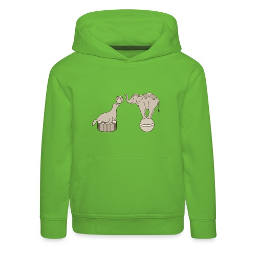 Circus elephant and seal - Kids' Premium Hoodie