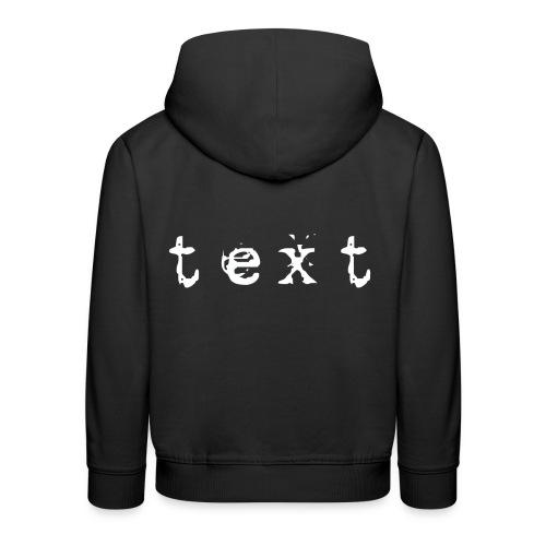 text - Kinder Premium Hoodie