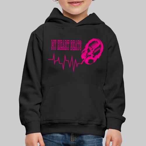 musicbeat_pink - Kids' Premium Hoodie