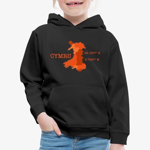 Cymru - Latitude / Longitude - Kids' Premium Hoodie