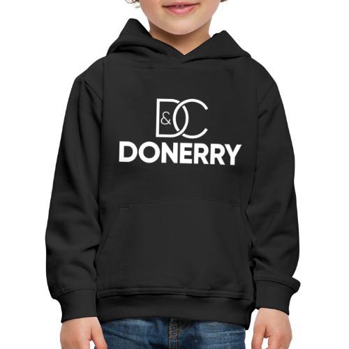 DONERRY New White Logo on Dark - Kids' Premium Hoodie