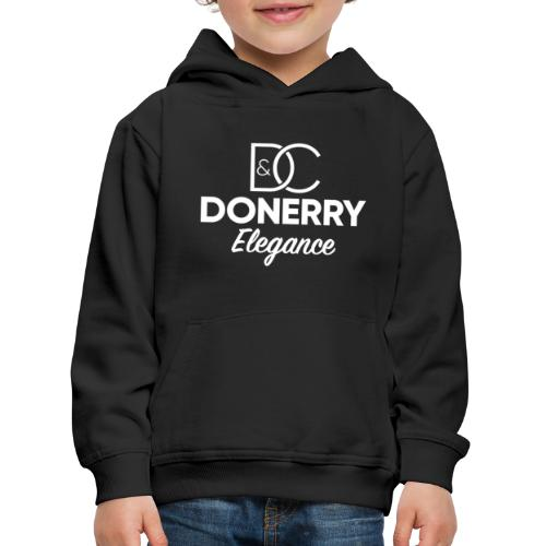 Donerry Elegance NEW White on Dark - Kids' Premium Hoodie