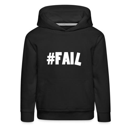FAIL / White - Pull à capuche Premium Enfant
