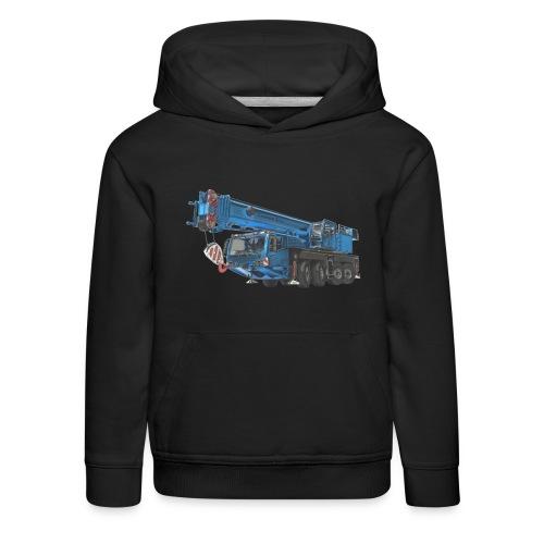 Mobile Crane 4-axle - Blue - Kids' Premium Hoodie