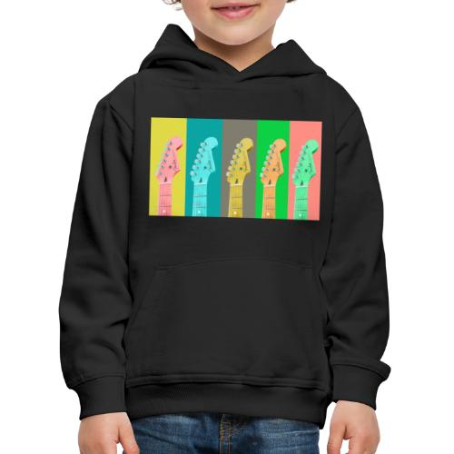 Colorful Guitar Gathering by #OneCreativeArts - Kinder Premium Hoodie