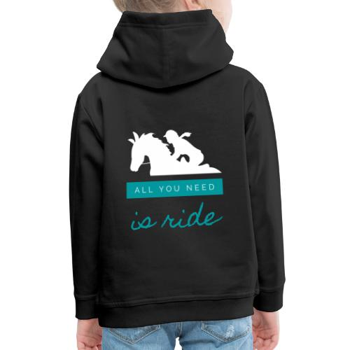 Logo All you need is ride - Pull à capuche Premium Enfant