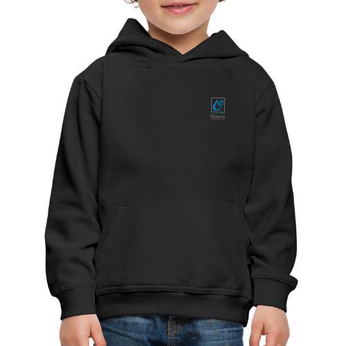 Little Owl Pictures Logo (weiß/blau) - Kinder Premium Hoodie