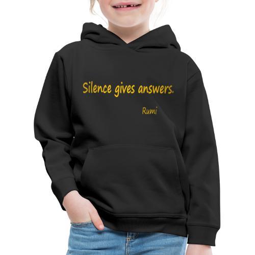 Silence - Kids' Premium Hoodie