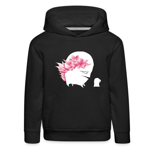 sad cat, with wild hair - Kinder Premium Hoodie