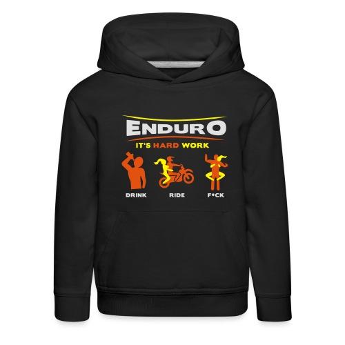 Enduro - It's hard work BlackShirt - Kinder Premium Hoodie