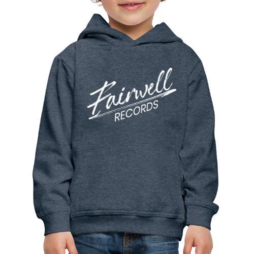 Fairwell Records - White Collection - Premium hættetrøje til børn