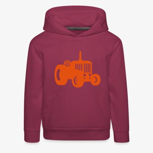 tractor oldschool - Kinderen trui Premium met capuchon