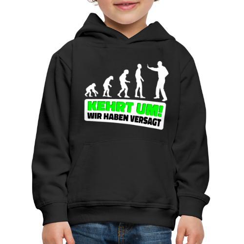 Evolution Klimaschutz Umweltschutz Demo Klimastrei - Kinder Premium Hoodie
