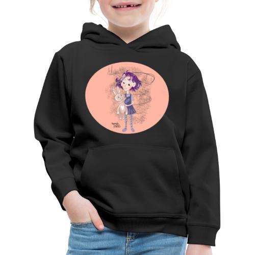 fille avec lapin - Pull à capuche Premium Enfant