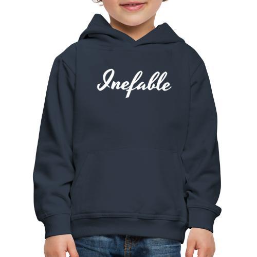Inefable Blanco. - Sudadera con capucha premium niño