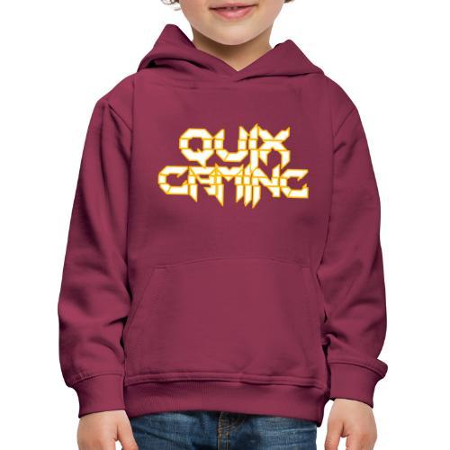 QuixGaming Simple Design - Premium hættetrøje til børn