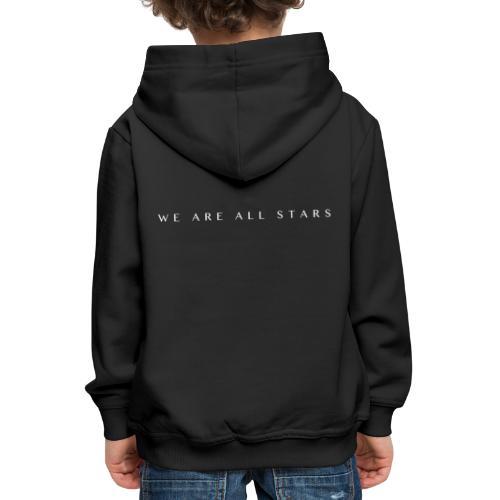 Galaxy Music Lab - We are all stars - Premium hættetrøje til børn