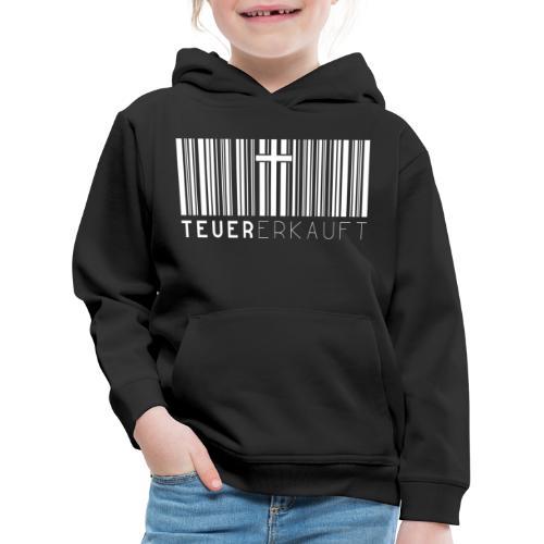 Teuer Erkauft Barcode Jesus Kreuz - Christlich - Kinder Premium Hoodie