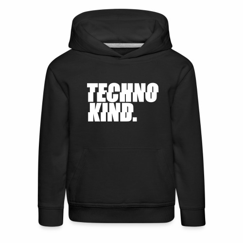 Techno Kind Rave Kultur Berlin Vinyl Progressive - Kinder Premium Hoodie