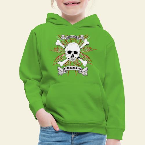 skull - Premium hættetrøje til børn