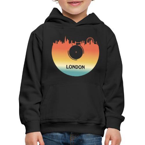 London Skyline Vinyl Schallplatte London Souvenir - Kinder Premium Hoodie
