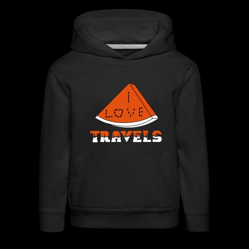 I LOVE TRAVELS FRUITS for life - Kids' Premium Hoodie