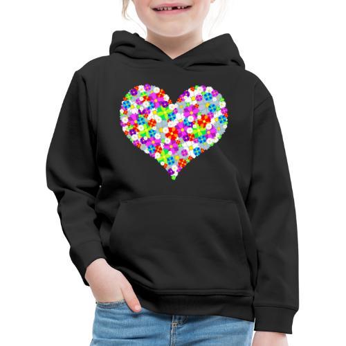 Blumenherz - Kinder Premium Hoodie
