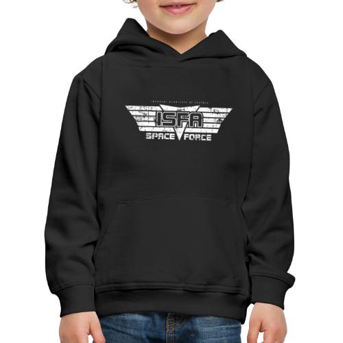 ISFA Spaceforce White grunge - Kinder Premium Hoodie