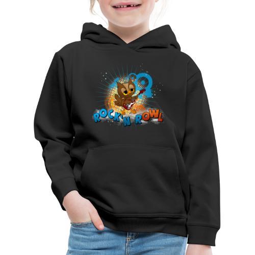 Eule mit Gitarre - rock'n rOWL - Kinder Premium Hoodie
