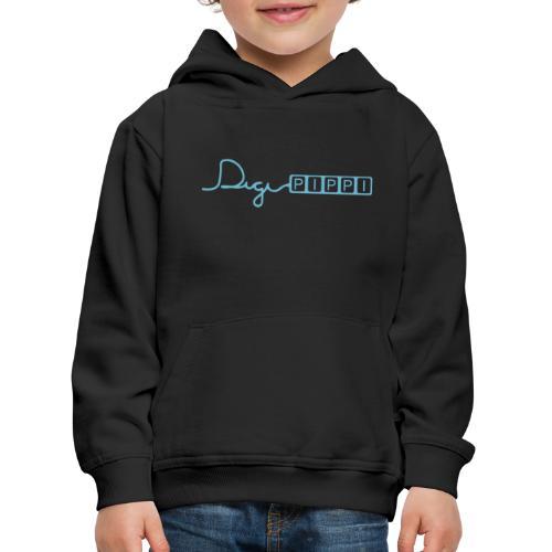 DP Logo Blue - Premium hættetrøje til børn