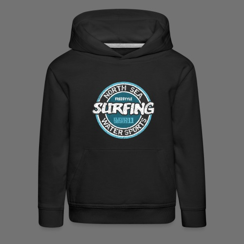 North Sea Surfing (oldstyle) - Kids' Premium Hoodie