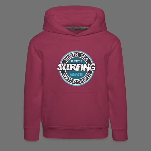 North Sea Surfing (oldstyle) - Bluza dziecięca z kapturem Premium
