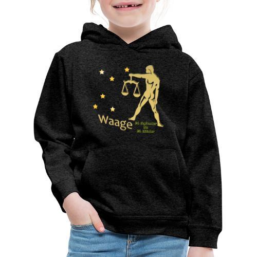 Sternzeichen Waage - Kinder Premium Hoodie
