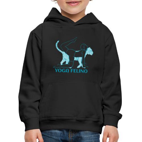 t shirt design YOGA FELINO - Felpa con cappuccio Premium per bambini