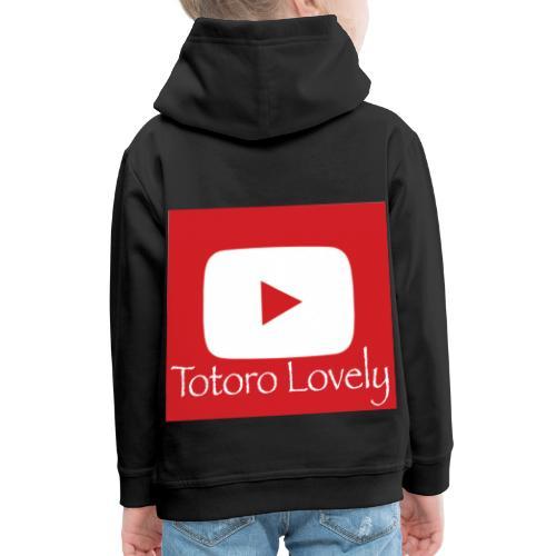 Totoro Lovely + YT logo bak, fram - Premium-Luvtröja barn