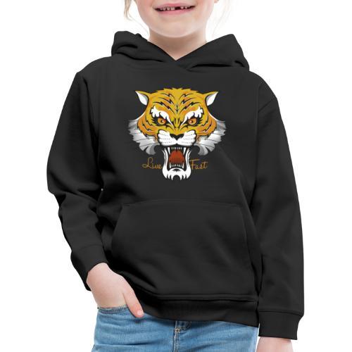 Tiger - Live Fast - Kinder Premium Hoodie